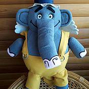 """Куклы и пупсы ручной работы. Ярмарка Мастеров - ручная работа Слон Прабу(герой мультфильма """"Летающие звери""""). Handmade."""
