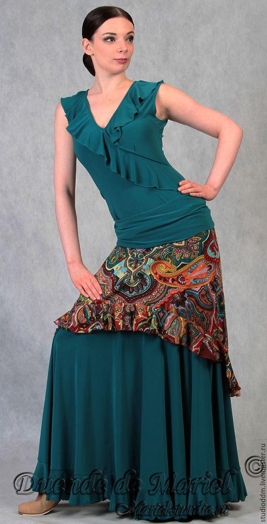 Юбка для фламенко `Doble 3` (`Двойная`) из дизайнерской коллекции 2013г. `Русский взгляд на фламенко`.