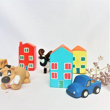 Куклы и игрушки ручной работы. Ярмарка Мастеров - ручная работа Деревяный домик. Handmade.