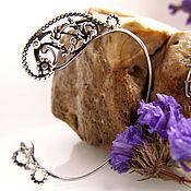 """Украшения ручной работы. Ярмарка Мастеров - ручная работа кафф """"Oriental ornament"""" silver. Handmade."""