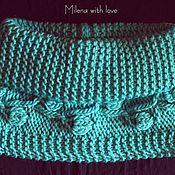 Аксессуары handmade. Livemaster - original item Scarf - snod knitted Turquoise.. Handmade.