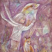 Картины и панно ручной работы. Ярмарка Мастеров - ручная работа Лавандовый ветер и птица. Handmade.