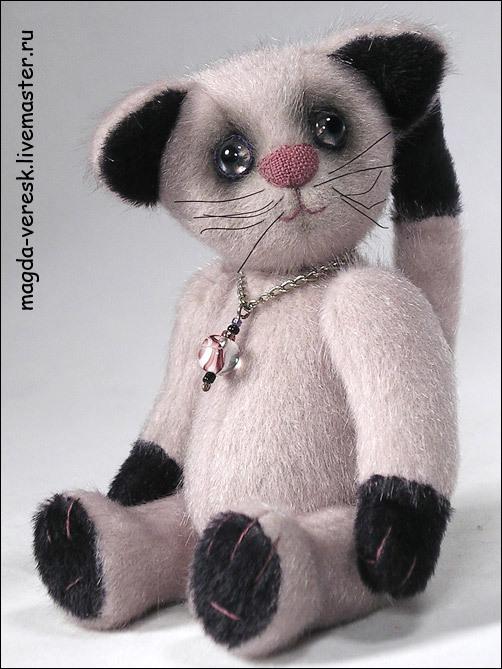 Мишки Тедди ручной работы. Ярмарка Мастеров - ручная работа. Купить Котик Дусик. Handmade. Мишки тедди, серебристый