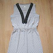 Одежда ручной работы. Ярмарка Мастеров - ручная работа Платье на резинке, с кружевом. Handmade.