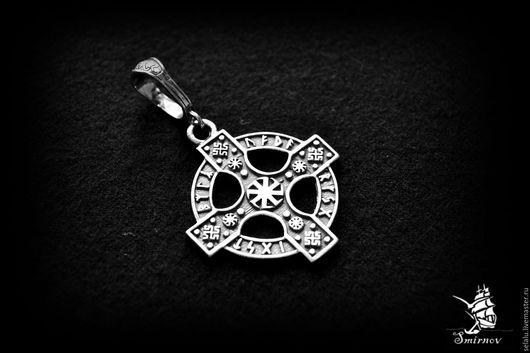 Кулоны, подвески ручной работы. Ярмарка Мастеров - ручная работа. Купить Рунический Кельтский крест. Серебро 925 пробы.. Handmade.