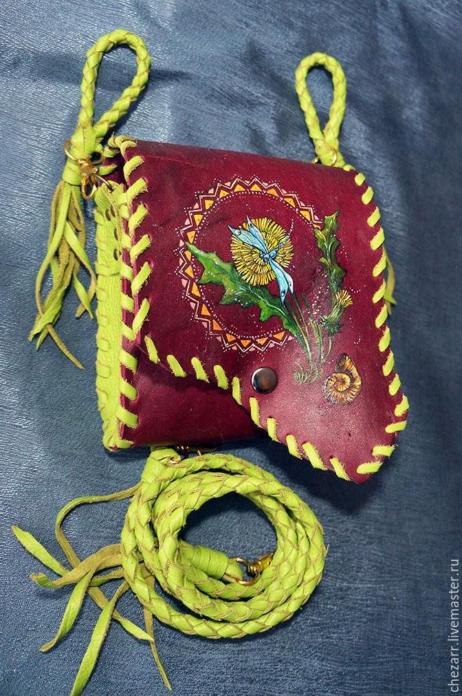 leather handbag 'Dragonfly', Classic Bag, Chelyabinsk,  Фото №1