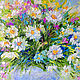 Painting daisies 'Bright Expectations' oil painting of daisies. Pictures. Multicolor Gallery. Online shopping on My Livemaster.  Фото №2