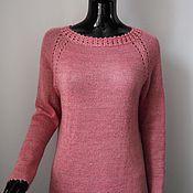 Одежда handmade. Livemaster - original item Jumper pink from kid-mohair. Handmade.