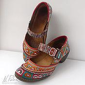 Обувь ручной работы handmade. Livemaster - original item Painting on shoes. Shoes Acapulco. Handmade.