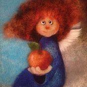 Картины и панно ручной работы. Ярмарка Мастеров - ручная работа Ангел с яблочком. Handmade.