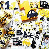 Подарки к праздникам ручной работы. Ярмарка Мастеров - ручная работа Набор с машинками. Handmade.