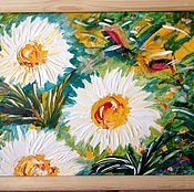 Картины и панно handmade. Livemaster - original item Magical chrysanthemum in my garden.. Handmade.