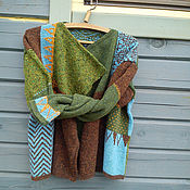 Одежда handmade. Livemaster - original item cardigan in tweed yarn. Handmade.