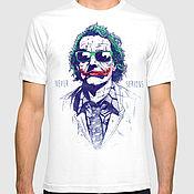 "Одежда handmade. Livemaster - original item Футболка с принтом ""Джокер - Never Serious"". Handmade."
