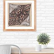 Картины и панно handmade. Livemaster - original item Painting Venusian flowers. Pastel, sanguine. Handmade.