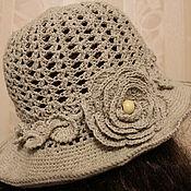Аксессуары handmade. Livemaster - original item Knitted hat with brim.. Handmade.