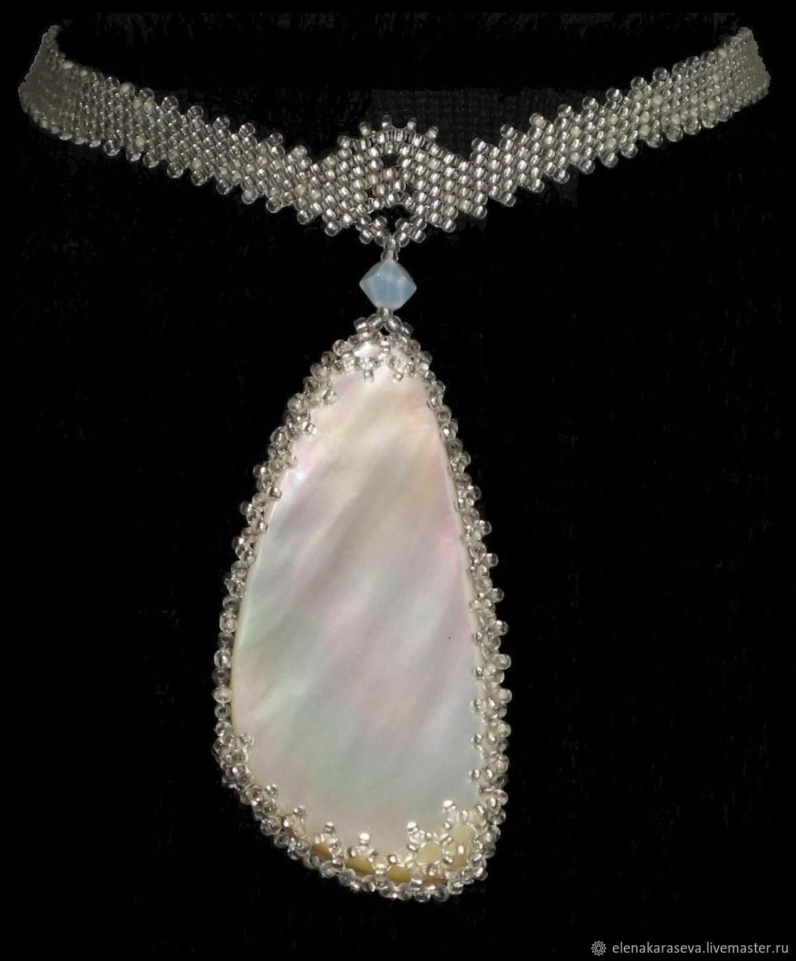 "Necklace of beads ""Mother of pearl"", Necklace, Moscow,  Фото №1"