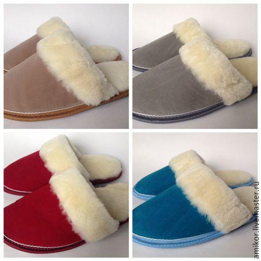Обувь ручной работы. Ярмарка Мастеров - ручная работа. Купить Тапочки из овчины женские модель 2. Handmade. Удобная обувь