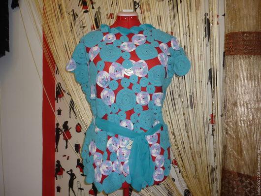 Кофты и свитера ручной работы. Ярмарка Мастеров - ручная работа. Купить Туника Морской бриз. Handmade. Голубой, бирюзовый, весна