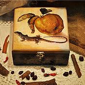 """Подарки к праздникам ручной работы. Ярмарка Мастеров - ручная работа Коробка для чая или для мелочей """"Медовая айва"""". Handmade."""