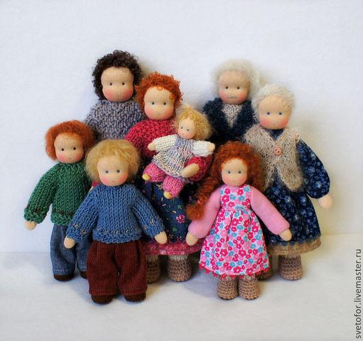 Вальдорфская игрушка ручной работы. Ярмарка Мастеров - ручная работа. Купить Cемья. Handmade. Вальдорфская кукла, подарок, каркасная кукла