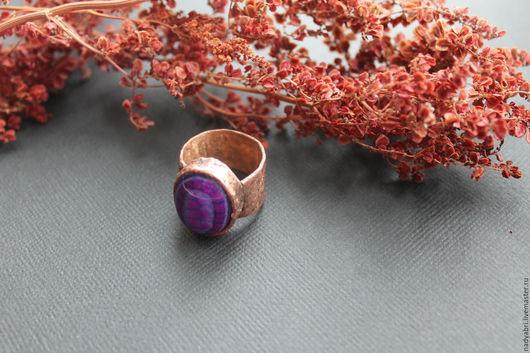 медное кольцо, медный перстень, украшения из меди
