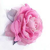 """Цветы и флористика ручной работы. Ярмарка Мастеров - ручная работа ЦВЕТЫ ИЗ ТКАНИ. Шифоновая роза """"Джульетта"""". Handmade."""