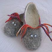 Обувь ручной работы. Ярмарка Мастеров - ручная работа Парочка тапочек. Handmade.