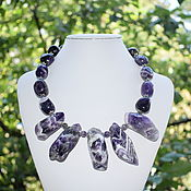 Украшения handmade. Livemaster - original item Large necklace natural amethyst. The author`s work. Handmade.