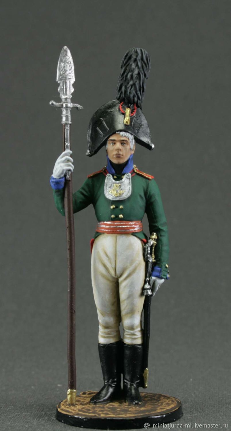 Tin soldier 54mm. Napoleonic wars.EK Castings.Chief officer, Military miniature, St. Petersburg,  Фото №1