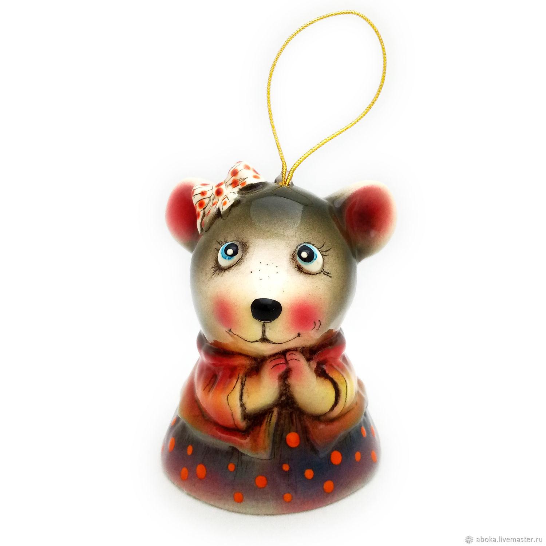 Ceramic bell ' Mouse', Kolokolchiki, Balashikha,  Фото №1