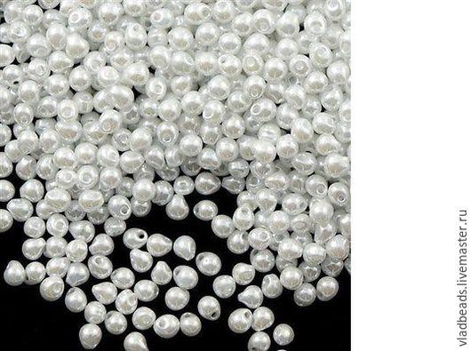 Для украшений ручной работы. Ярмарка Мастеров - ручная работа. Купить Бисер Drops 3.4 мм 420 White Pearl Ceylon. Handmade.