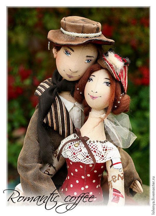 Коллекционные куклы ручной работы. Ярмарка Мастеров - ручная работа. Купить Romantic coffee. Текстильные куклы. Handmade. Кофе, кукла