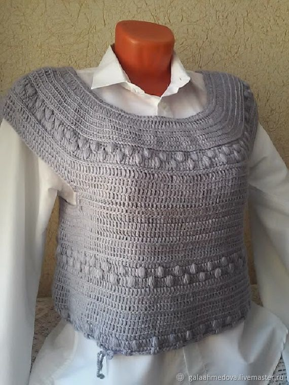 Stylish Crochet Vest 3 Handmade Shop Online On Livemaster With