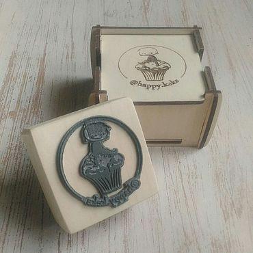 Дизайн и реклама ручной работы. Ярмарка Мастеров - ручная работа Штамп с логотипом. Handmade.