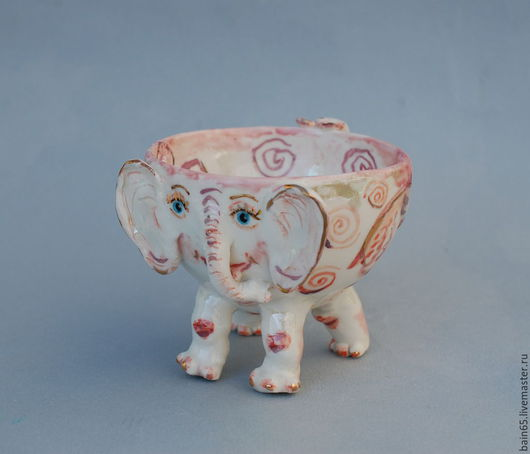 Кружки и чашки ручной работы. Ярмарка Мастеров - ручная работа. Купить Розовый слонёнок. Handmade. Бледно-розовый, чашка фарфоровая