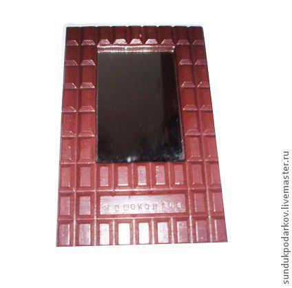 """Зеркала ручной работы. Ярмарка Мастеров - ручная работа. Купить Зеркало """" Я в шоколаде"""". Handmade. Коричневый, зеркало настенное"""