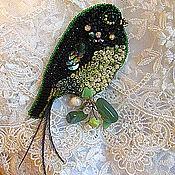"""Украшения ручной работы. Ярмарка Мастеров - ручная работа Брошь """"Изумрудная птица""""(продано). Handmade."""
