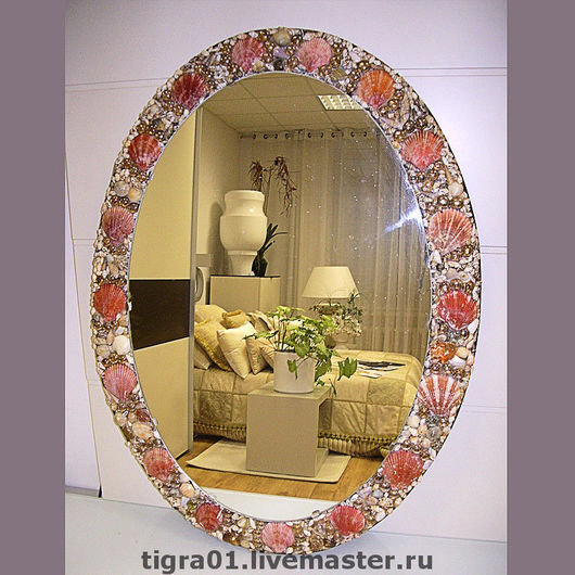 Зеркала ручной работы. Ярмарка Мастеров - ручная работа. Купить Зеркало для красавицы. Handmade. Зеркало, зеркало с ракушками, интерьер