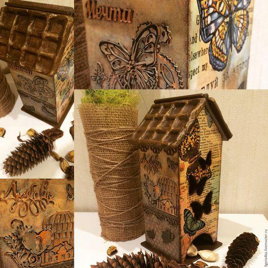 """Кухня ручной работы. Ярмарка Мастеров - ручная работа. Купить Чайный домик """"Бабочки"""". Handmade. Комбинированный, предмет интерьера, подарок"""