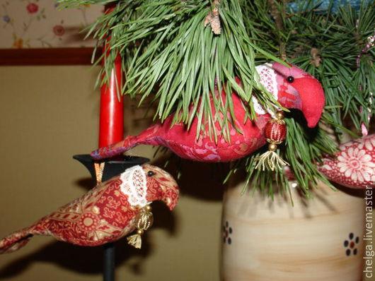"""Новый год 2017 ручной работы. Ярмарка Мастеров - ручная работа. Купить Елочная игрушка """"Новогодняя птица счастья"""". Handmade."""