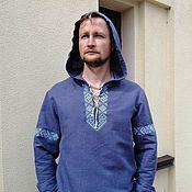 Мужская одежда handmade. Livemaster - original item A shirt with a hood