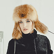 Аксессуары handmade. Livemaster - original item Copy of Real fox fur hat