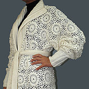 "Одежда ручной работы. Ярмарка Мастеров - ручная работа Пальто вязаное ""Белая сказка"". Handmade."