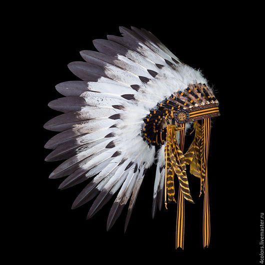 """Персональные подарки ручной работы. Ярмарка Мастеров - ручная работа. Купить Индейский головной убор """"St. George Warrior"""". Handmade."""