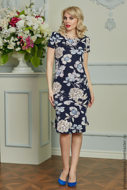 Платья ручной работы. Ярмарка Мастеров - ручная работа. Купить Платье цветочное в фигурными подрезами 25030. Handmade. Платье нарядное