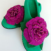 Обувь ручной работы handmade. Livemaster - original item Felted Slippers women`s. Handmade.