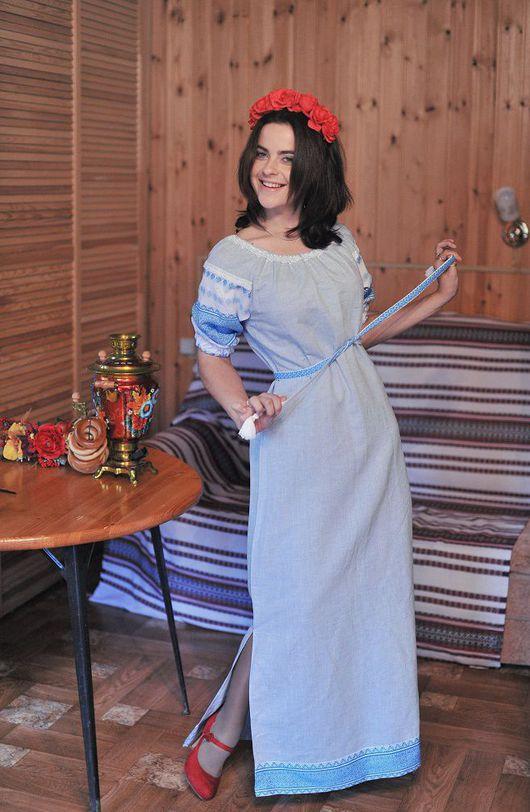 Одежда ручной работы. Ярмарка Мастеров - ручная работа. Купить Женское платье. Handmade. Женская рубаха, одежда для праздника