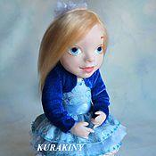 Авторская коллекционная кукла Леночка 23см ручной работы, подарок маме