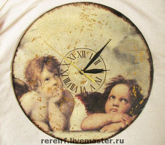 """Часы для дома ручной работы. Ярмарка Мастеров - ручная работа. Купить Часы """"Эпоха Возрождения"""". Handmade. Часы, ангелочки"""